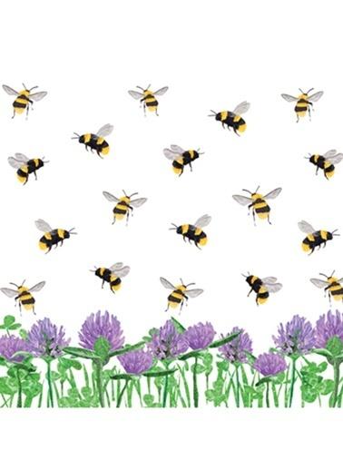Honey Bees & Clover Peçete-Dünya Style